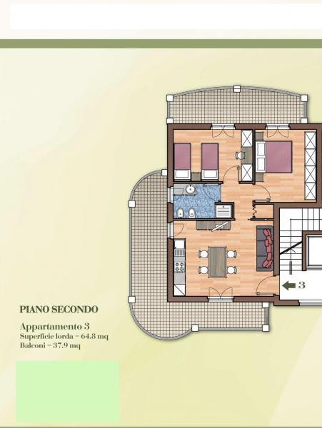 Appartamento in vendita a Acquaviva Picena, 3 locali, Trattative riservate | Cambio Casa.it