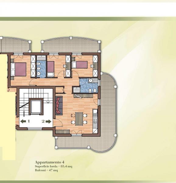 Appartamento in vendita a Acquaviva Picena, 4 locali, Trattative riservate | Cambio Casa.it