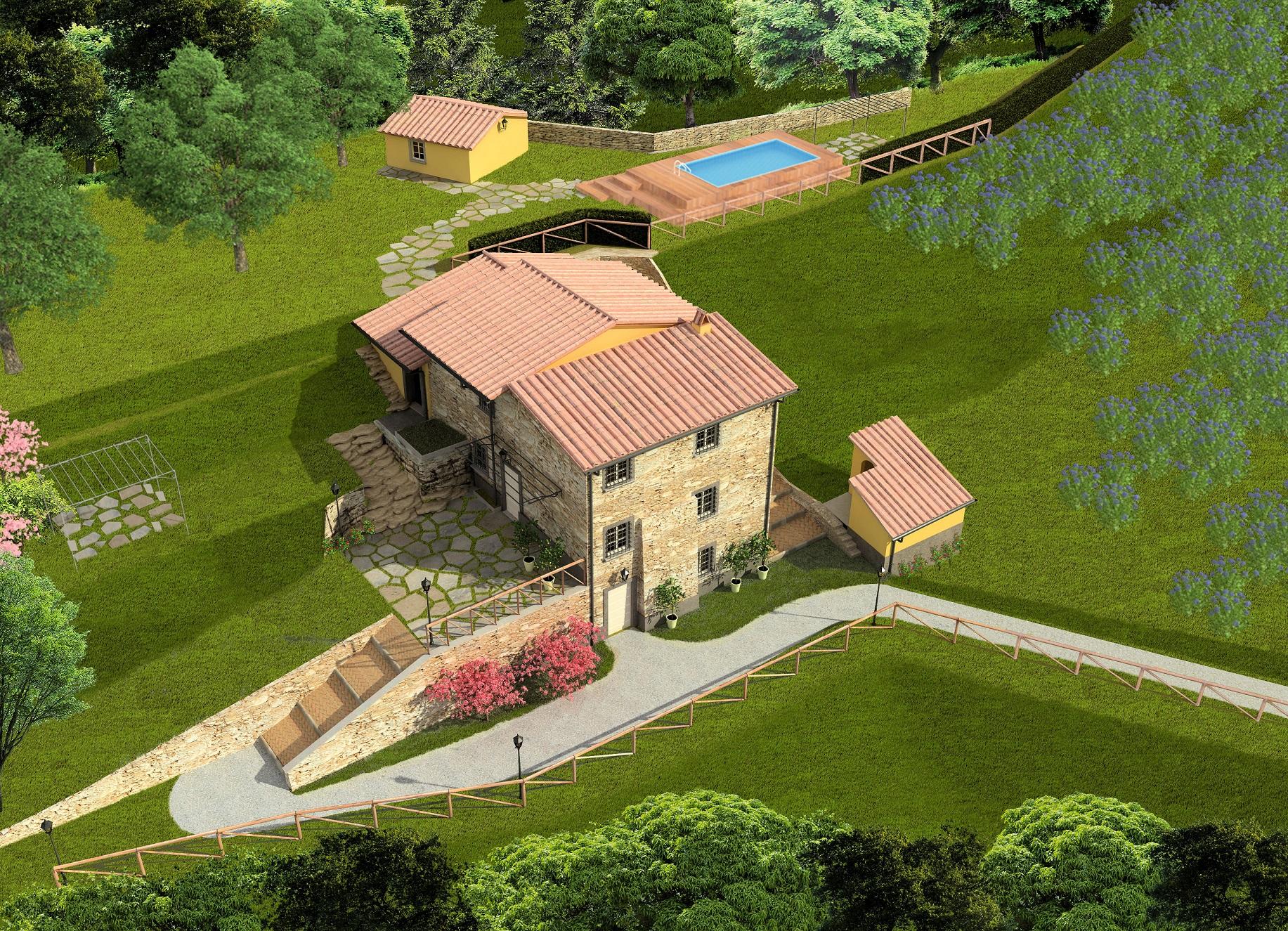 Rustico / Casale in vendita a Lucca, 9 locali, zona Zona: Pozzuolo, prezzo € 649.000 | Cambio Casa.it