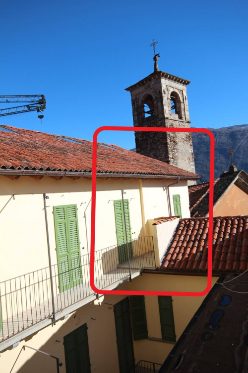 Cannobio, new four-room-flat duplex with balcony and lake view downtown 50 mt from the lake at Sale