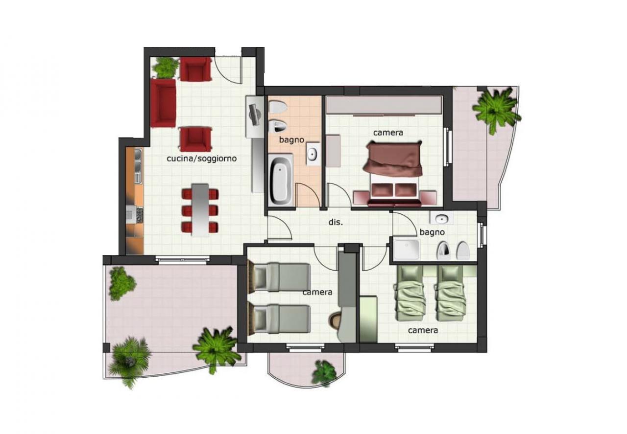 Appartamento in vendita a Spinetoli, 4 locali, zona Zona: Pagliare, Trattative riservate   Cambio Casa.it